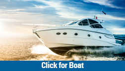 Boat loan picture of speed boat moving on the water
