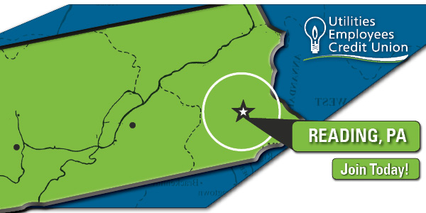 Pennsylvania map image highlighting the Greater Reading Area