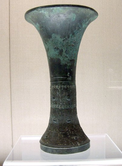 饕餮文觚 商前期 Early Shang Dynasty, Shanghai Museum