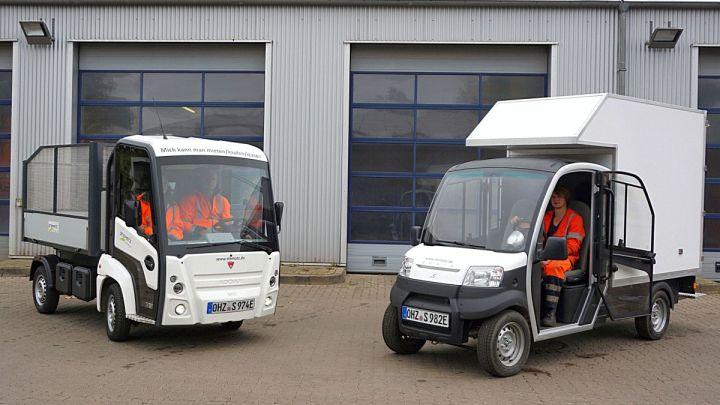 Betriebliche Dienste testen Elektrofahrzeuge
