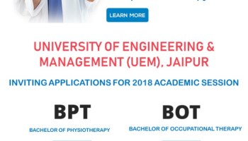 UEM, Jaipur provides Bachelor of Physiotherapy course (BPT