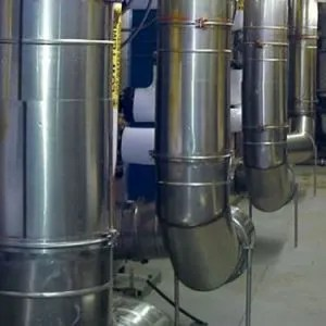 factory built generator exhaust