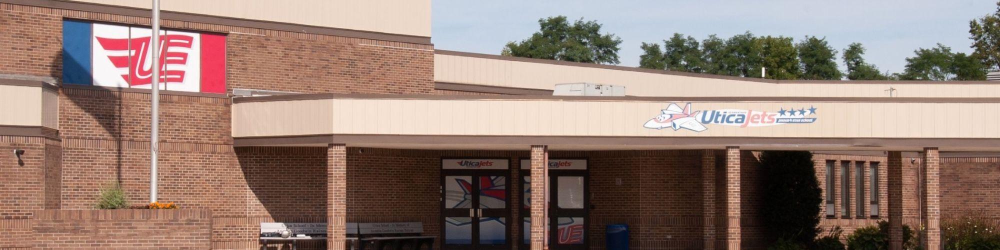 Front of school building