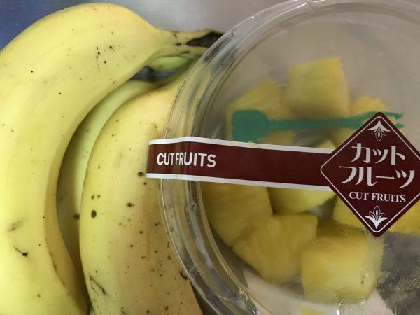 バナナとパイナップル