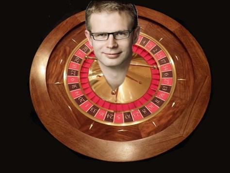 Benny Engelbrechts hoved på en roulette