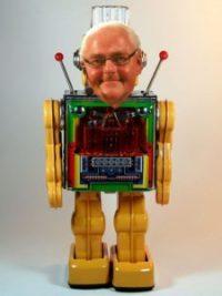 En aktuel version af Bonnichsen-robotten. Et minimum af kunstig intelligens sætter androiden i stand til at aflire de samme fraser om og om igen. (Foto: D J Shin/Mogens Engelund (CC BY-SA 3.0))