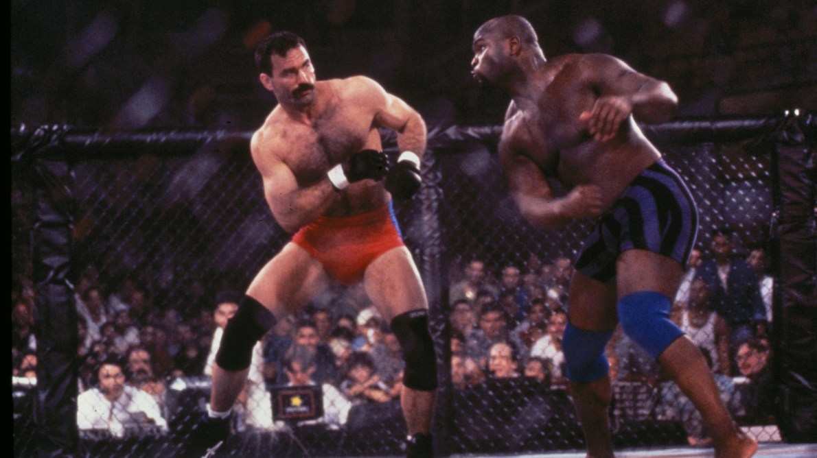 Before fighting Don Frye (pictured), Goodridge scored one of the most brutal KO's in history (Photo credit: UFC archives)