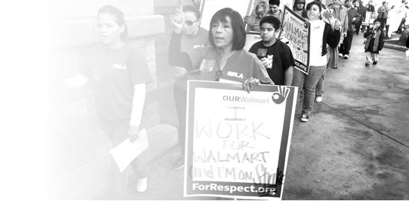 Organizing Walmart rally