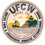 UFCW Local 135 vintage button
