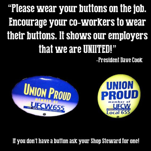 Wear Buttons UFCW