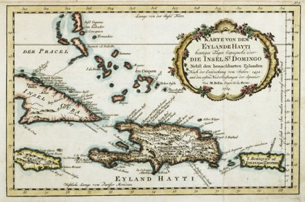 Karte von dem Eylande Hayti