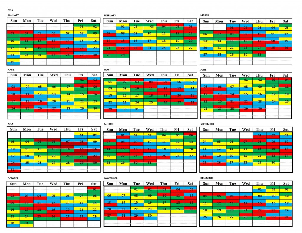 Draft Shift Calendar