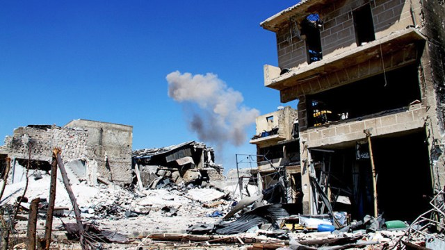 Imagen ilustrativa de conflicto en Siria, Mikhail Allaedin