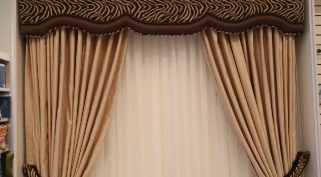 cortinas de tela con cenefas
