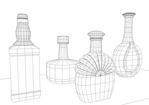 bouteilles filaire