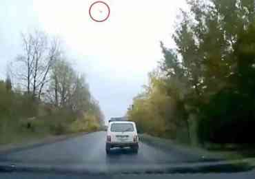 ufo russian car crash