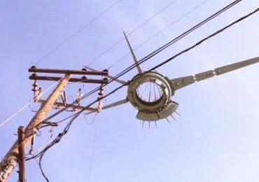 ufo near utility pole