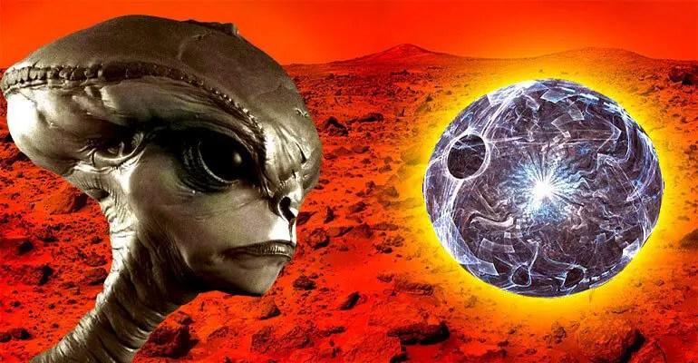 alien sphere on mars