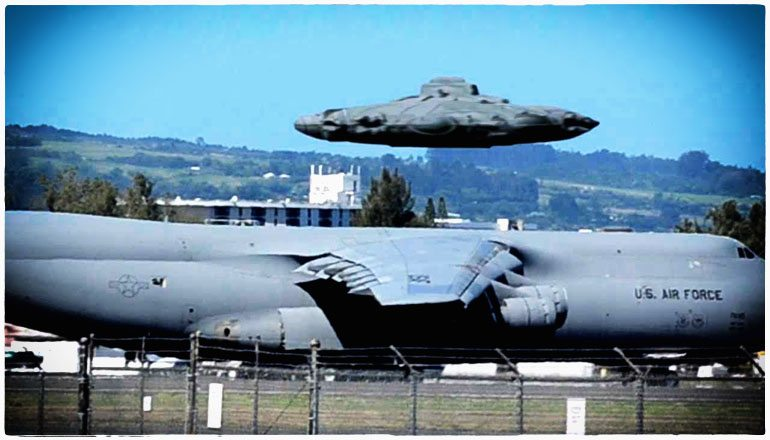 UFO military plane testing alien technology