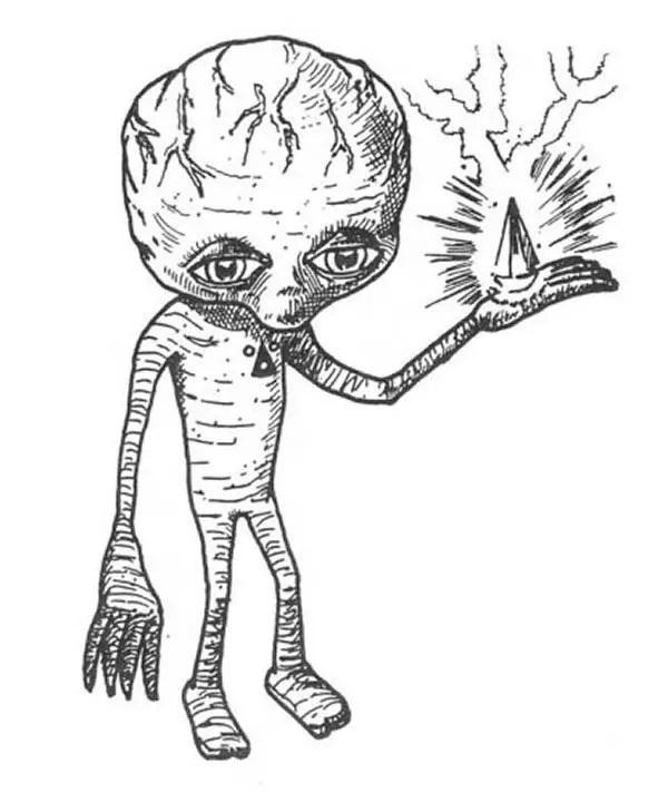 sketch of alien