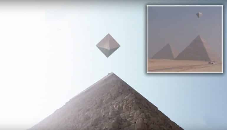 ufos over giza pyramids