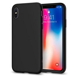 Spigen iPhone X Liquid Crystal – Matte Black 057CS22119
