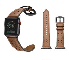 Vogue Leather Band – Brown with Black Dot 44mm/42mm