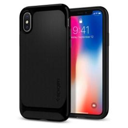Spigen iPhone X Neo Hybrid – Shiny Black 057CS22166