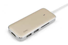 LINX USB-C Multiport Adapter with HDMI and SD Card Reader/Gold