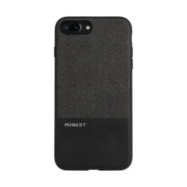 Mobest Design Atman Series Canvas/PU Leather Splicing for iP7+ – Black