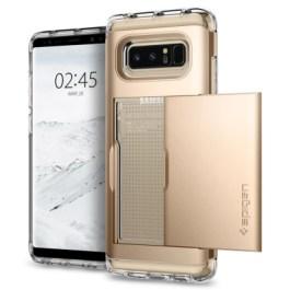 Spigen Galaxy Note 8 Case Crystal Wallet Champagne Gold