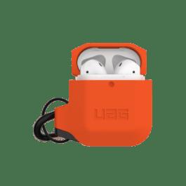 UAG AirPods 1/2 Silicone Case – Orange/Grey