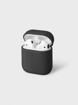 Uniq Lino Hybrid Liquid Silicon AirPods 1/2 Case – Grey