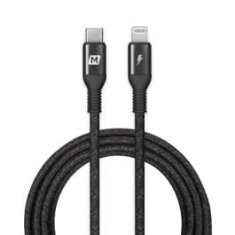 Momax Elite Link MFI USB-C to Lightning 220cm – Black