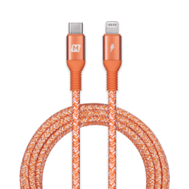 Momax Elite Link MFI USB-C to Lightning 220cm – Orange