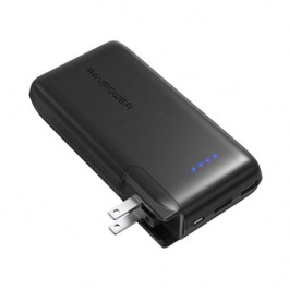 RP-PB066 AC 10000mAh Power Bank with EU&UK Adapter – Black (Built-in US Plug)
