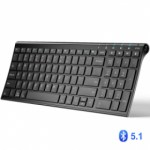 iClever BK10 Bluetooth Universal Ultra-Slim Keyboard [ Included Keyboard Protector ]