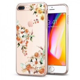 Spigen iPhone 8 Plus/7 Plus Case Liquid Crystal Aquarelle Primrose 055CS22784