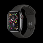 Series 4 44mm Space Black Stainless Steel | Black Sport Band