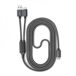 RAVPower 2-in1 1m/3.3ft USB-C to USB-A / USB-C Cable Charge & Sync