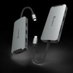 CASA Hub A08 USB-C 8-in-1 multi-function Hub – Gray