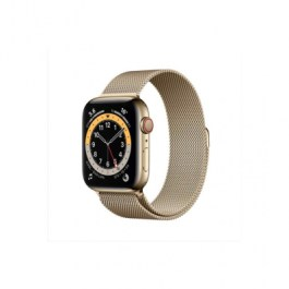 Series 6 44mm Gold Stainless Steel Case Gold Milanese
