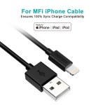Choetech MFI Certified USB to Lightning Cable 0.6m – Black