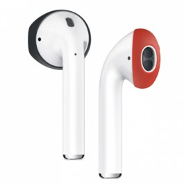 AirPods Secure Fit Cover [2 Pairs] [Black + Red]