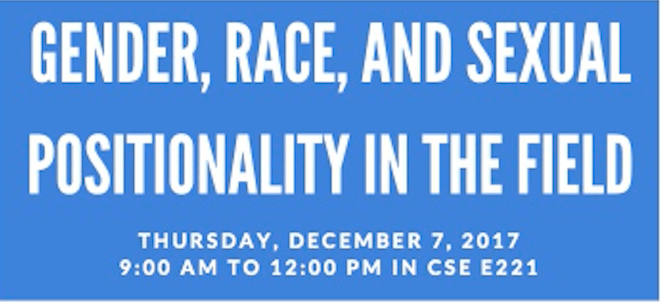 Gender, Race and Sexual Positionality in the field Workshop
