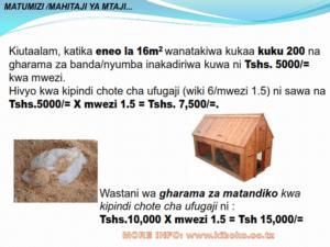 chicken management swahili 022 300x225 - Ufugaji wa kuku: Namna ya kuanza na mchanganuo wa mapato na matumizi