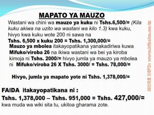 chicken management swahili 024 - Ufugaji wa kuku: namna ya kuanza na mchanganuo wa mapato na matumizi