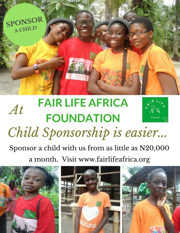 Sponsor A Child With Fair Life Africa Foundation