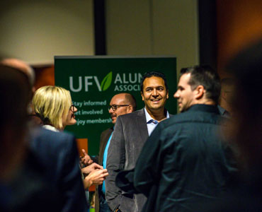 UFV professors pose for a group photo