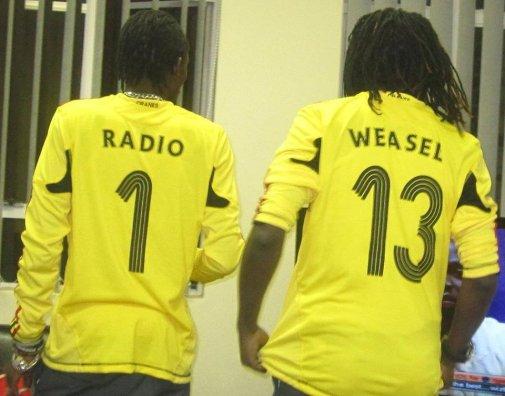 Uganda Cranes fans Radio and Weasel